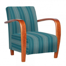restmore_accent_chair_teal_stripe_fabric