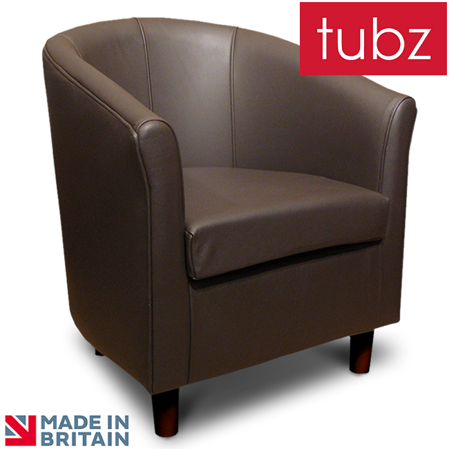 Tub Chairs Tuscany Tub Chair In Brown Genuine Leather