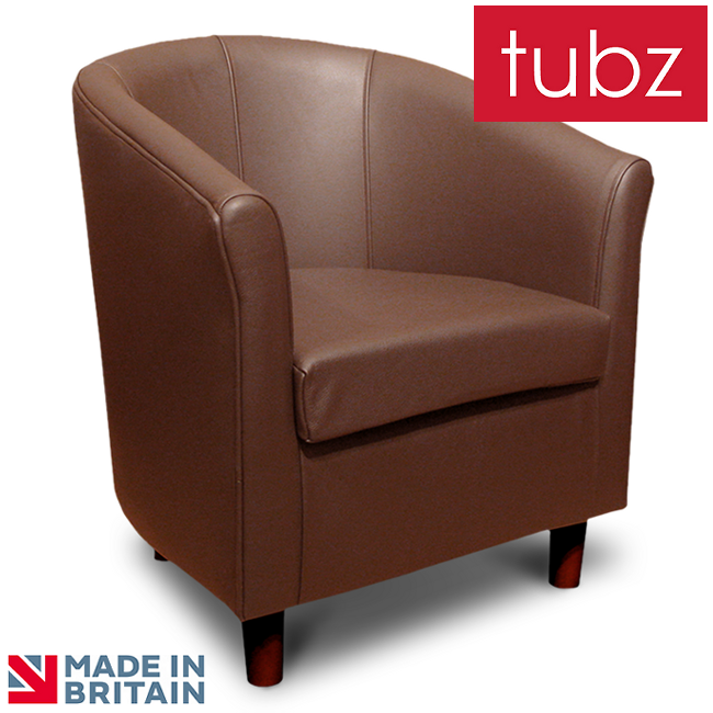 Tub Chairs Tuscany Tub Chair In Tan Genuine Leather