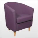 Purple Tub Chairs