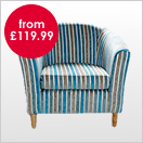 Stripe Pattern Fabric Chairs